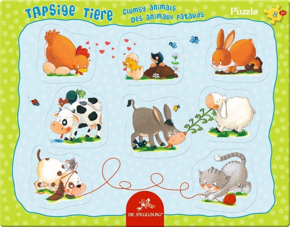 Puzzle con marco - Animalitos - 8 piezas - Tienda Lilifee